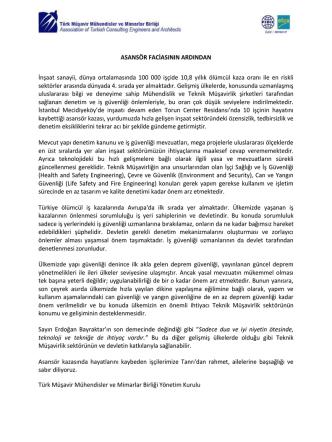 Basın Duyurusu - Türk Müşavir Mühendisler ve Mimarlar Birliği