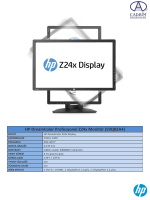 HP DreamColor Profesyonel Z24x Monitör (E9Q82A4)