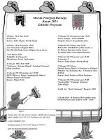 MFD - Kasım 2014 Etkinlik Programı