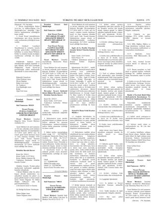 15 Temmuz 2014 Tarihli Yönetim Kurulu Kararı ile Temsil ve İlzama