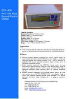 EKY–300 PVC Tek Köşe Kaynak Kontrol Ünitesi
