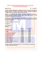 2014/1. geçici vergi dönemi için uygulanacak yabancı para değerleri
