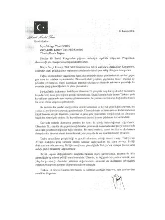 Cumhurbaşkanı - Dünya Enerji Konseyi Türk Milli Komitesi