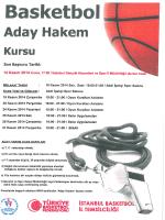 Basketbol - İstanbul Gençlik Hizmetleri ve Spor İl Müdürlüğü