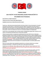 turkısh forum 2014 faaliyet ve 2015 başlangıç çalışma projeleri