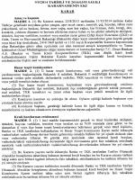 Kararın Eki - Resmi Gazete
