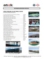 spor tesisleri ve çok amaçlı salon