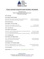 tüsad akademi eskişehir kampı bilimsel programı