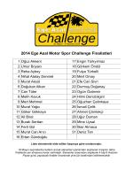 2014 Ege Asal Motor Spor Challenge Finalistleri