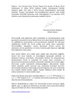 Esc Termal Tesis Turizm İnşaat A.Ş. olarak, 10 Nisan 2014