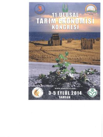 11. Ulusal Tarım Ekonomisi Kongresi