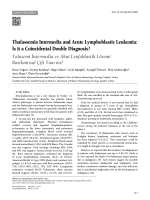 Thalassemia Intermedia and Acute Lymphoblastic