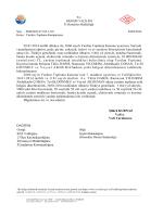 28.01.2014 tarihli dilekçe ile, 2860 sayılı Yardım Toplama Kanunu