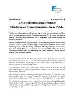 Türk Faktoring Şirketlerinden Uluslararası Alanda Gururlandıran Tablo
