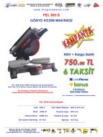 FEL 305 S GÖNYE KESİM MAKİNESİ