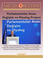 Parlamentolar Arası Değişim ve Diyalog Projesi