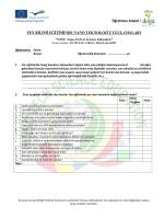 Öğretmen Anketi / FEN BİLİMİ EĞİTİMİNDE NANO TEKNOLOJİ