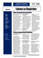 Mart 2014 Takvim ve Öngörüler