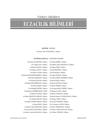 Advisory Board - Türkiye Klinikleri