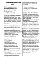 12.sınıf yazılı öncesi özet