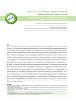 Comparison of %6 Hydroxyethyl Starch and %4 Gelatine Solutions