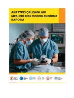 anestezi çalışanlarında mesleki risk değerlendirme anketi