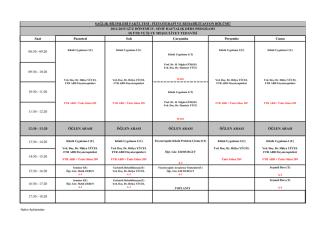 2014-2015 Güz Dönemi IV. Sınıf (D)