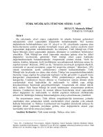 BULUT, Mustafa Hilmi-TÜRK MÜZİK KÜLTÜRÜNDE SÖZEL