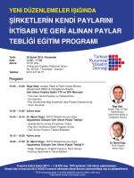 GAP programi 26 subat - TKYD - Türkiye Kurumsal Yönetim Derneği