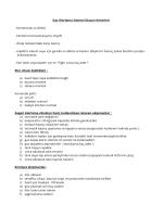Gaz Klorlama Sistemi Dizayn Kriterleri