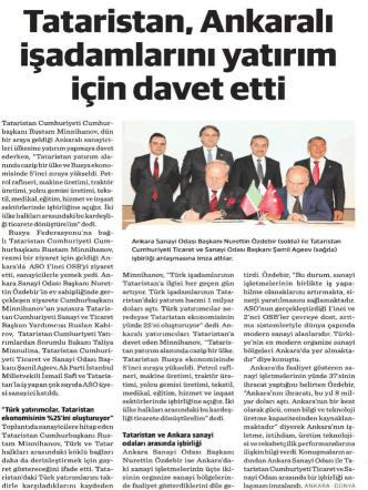 03.12.2014 - Ankara Sanayi Odası