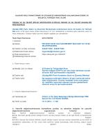 İhale Kayıt Numarası - II.Bölge Müdürlüğü