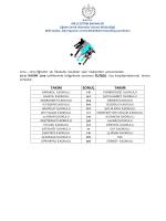 20-21 Kasım Futbol Küçül Sonuçları - Eğitim Ortak Hizmetler Dairesi
