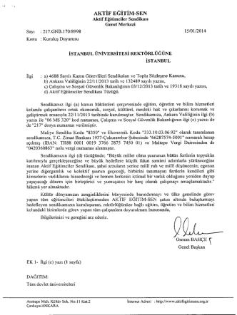AKTİF EĞİTİM-ŞEN - İstanbul Üniversitesi | Personel Daire Başkanlığı