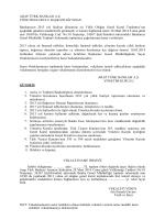 Arap Türk Bankası 28.03.2014 Tarihli Olağan Genel Kurul Çağrı