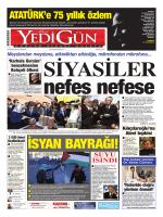 suyu ısındı - Yedigün Gazetesi