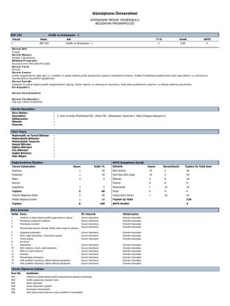 BIP103 Grafik ve Animasyon - Gümüşhane Meslek Yüksekokulu