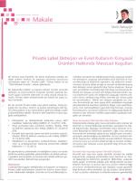 Private Label Deterjan Ve Evsel Kullanım Kimyasal Ürünleri