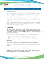 Nisan Ayı Bülteni - Gümrük ve Ticaret Bakanlığı