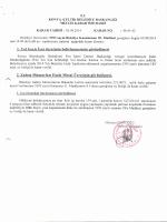 2014/Eylül Ayı Meclis Kararları