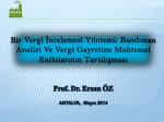 vergi gelirleri - Prof. Dr. Ersan ÖZ