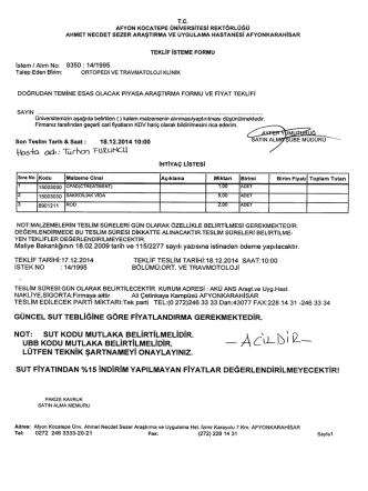 14/1995 nolu istek ans araşt ve uyg hast.ortopedi ve travmatoloji