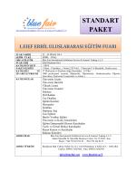 standart paket katılım bilgi formu