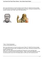 İyiyi Gerçek Kılan Filazof Platon (Eflatun)