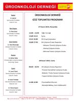 üroonkoloji derneği güz toplantısı programı