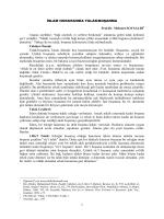 İSLAM HUKUKUNDA TALAK/BOŞANMA Prof.Dr. Mehmet