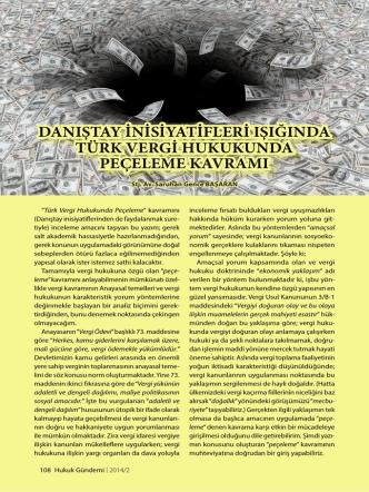 Danıştay İnisiyatifleri Işığında Türk Vergi