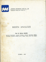 BESIN ANALİZİ - Marmara Üniversitesi