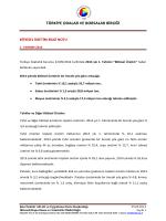 2014 Yılı I. Tahmin Bitkisel Üretim İstatisitkleri B.N.