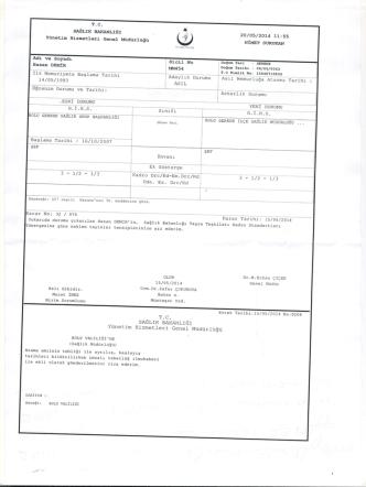 2014 - Bolu İl Sağlık Müdürlüğü